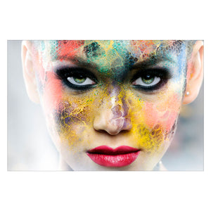 Tempered Glass Art - Face in Color Wall Art Decor