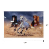 Acrylic Art - Horses on the Run Wall Art Decor