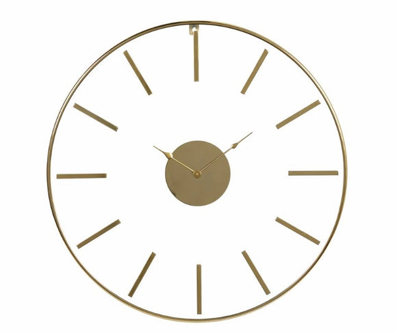 Large Round Gold Stainless Steel Modern Wall Clock
