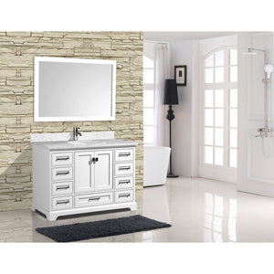 "Cambridge 48"" White Bathroom Sink Vanity -Cambridge 48"" White"