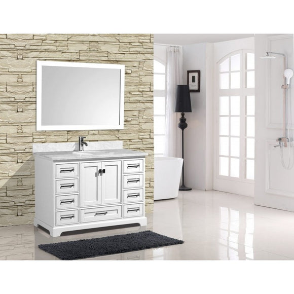 "Cambridge 48"" White Bathroom Sink Vanity -Cambridge 48"