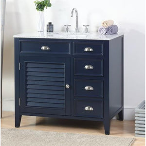 "Abbeville 36"" Navy Zapata Bathroom Sink Vanity -NB-6685-36"