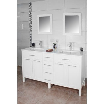 "Cardiff 60"" White Bathroom Sink Vanity -Cardiff 60"""