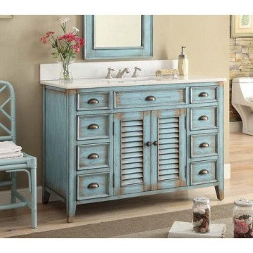 Abbeville Distressed Blue 46.75