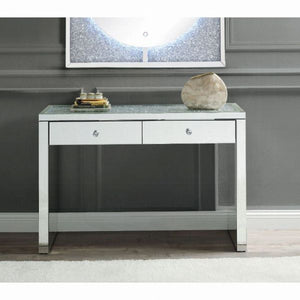 "47"" Noralie Console Table - Mirrored & Faux Diamonds"