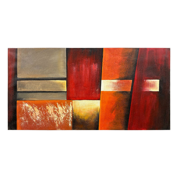 Canvas Art - Fire Red Wall Art Decor