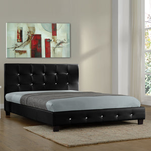 Black Twin Platform Furniture Bed