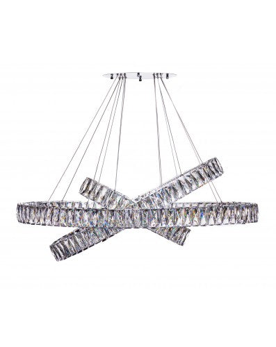 Crystal Elegance Chandelier - Lighting - Three Tier Oval