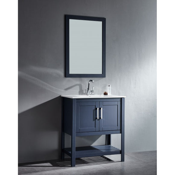 "Beach 30"" Blue Bathroom Sink Vanity -Beach 30"