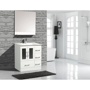 "Alva 30"" White Bathroom Sink Vanity -Alva-30-W-C"