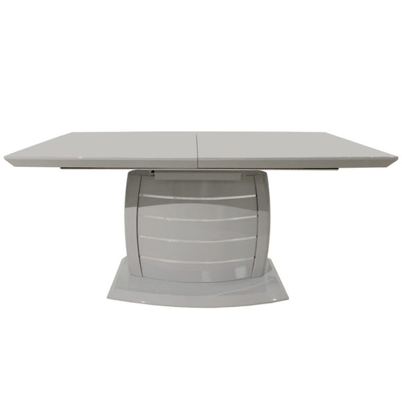 Rectangular Dining Table High Gloss Grey  and Lacquer Finish