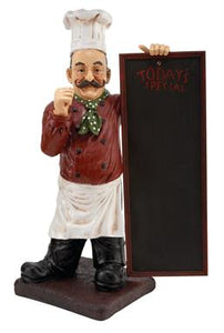"36"" Chef with Chalkboard Sculpture - Home Decor"
