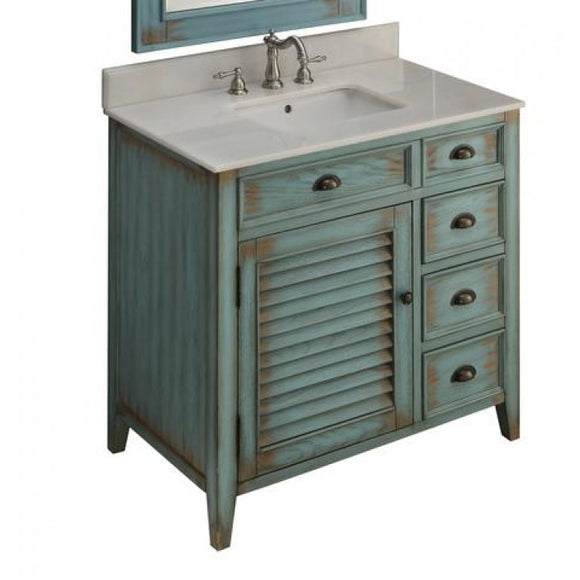 Abbeville Distressed Blue 36