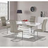 Rectangular Dining Table White High Gloss and Lacquer Finish