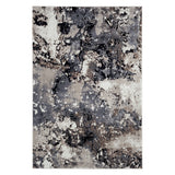 Modern Grey and Beige Abstract Rug