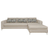 Beige Sectional Sofa with Right or Left Chaise - Furniture