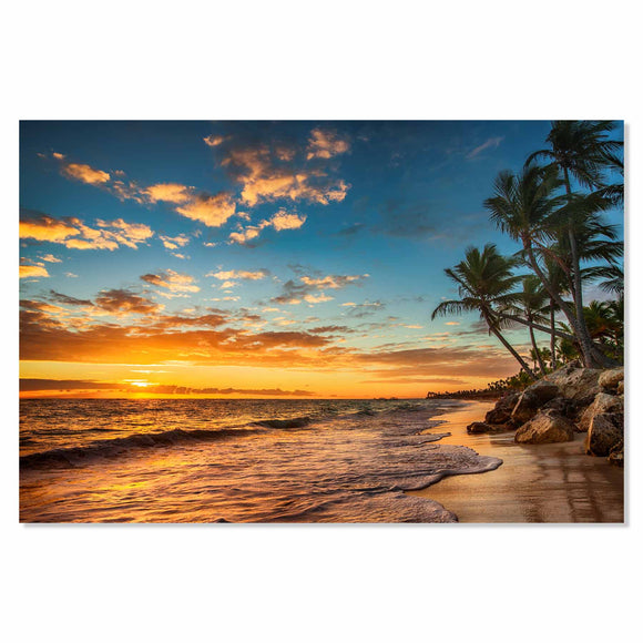 Tempered Glass Art - Paradise Beach Fine Wall Art Decor
