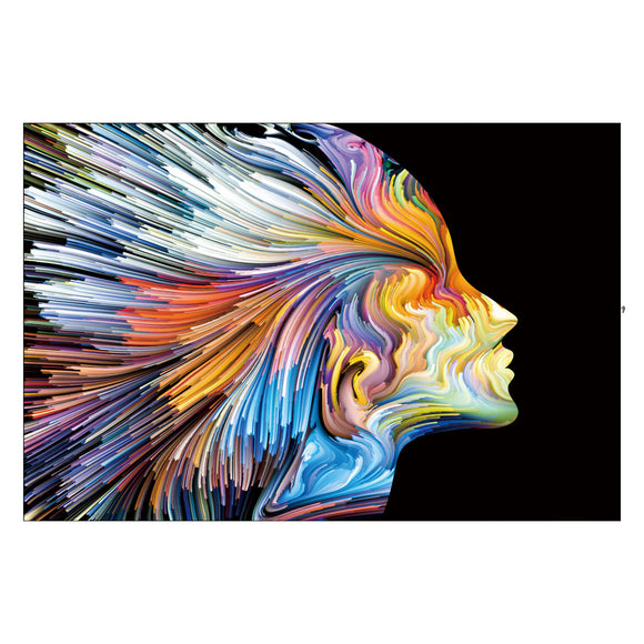 Tempered Glass Art - Women In Color Wall Art Decor
