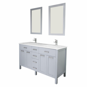 "Cardiff 60"" Gray Bathroom Sink Vanity -Cardiff 60"" Gray"