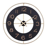 Large Round Black and Gold Wall Clock