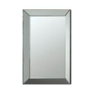 "Silver Rectangular Beveled Wall Mirror - 23.5""x 2""x 35.5"""