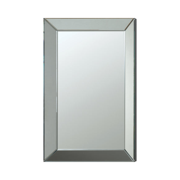 Silver Rectangular Beveled Wall Mirror - 23.5