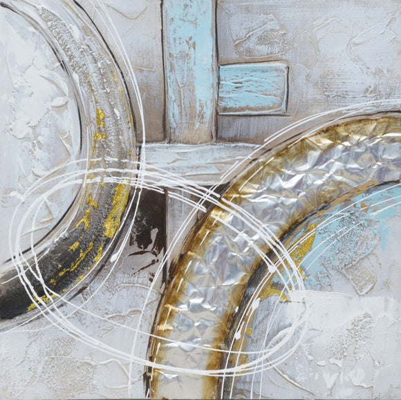 Canvas Art - Ring Around Hand Embellished Wall Art Decor