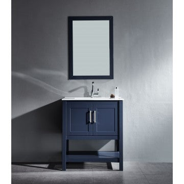 "Beach 24"" Blue Bathroom Sink Vanity -Beach 24"