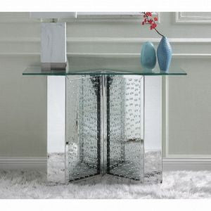 "45"" Nysa Console Table - Mirrored & Faux Crystals"