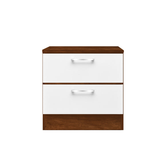 Walnut Veneer Nightstands