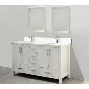 "Astoria 60"" White Bathroom Sink Vanity -AST-VS60"