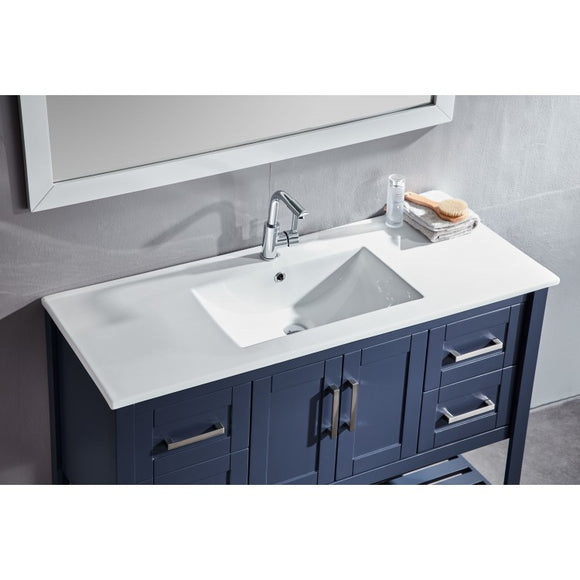 "Beach 48"" Blue Bathroom Sink Vanity -Beach 48"