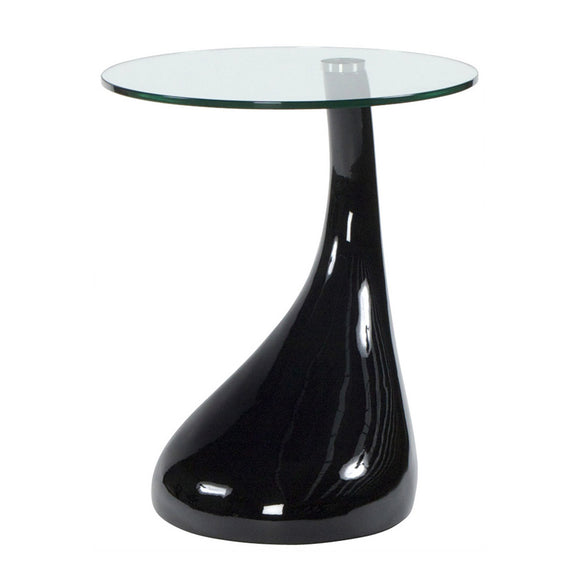 Black Tear Drop End Table