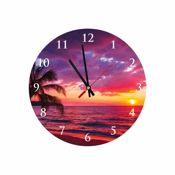 Beautiful Sunset Round/Square Acrylic Wall Clock