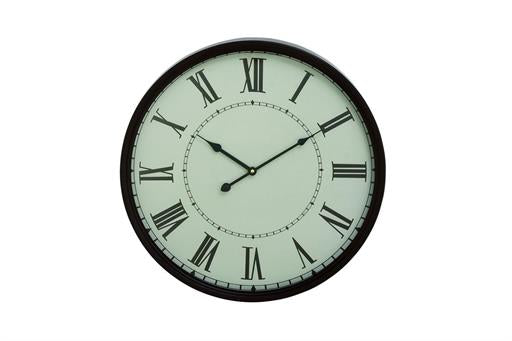 Metal White and Black Wall Clock