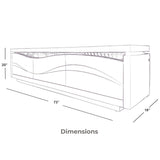 TV Stands and Entertainment Centers with LED Light 73 inch