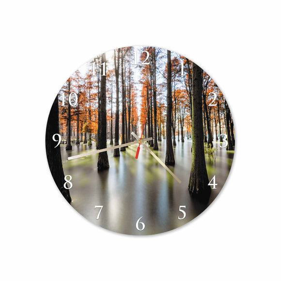 Orange Forest Round/Square Acrylic Wall Clock
