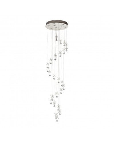 Crystal Mariposa Spiral Flush Lamp - Lighting - Adjustable 96 inch