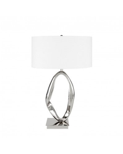 Circle Chrome Table Lamp - 3 Lighting Setting 27 inch