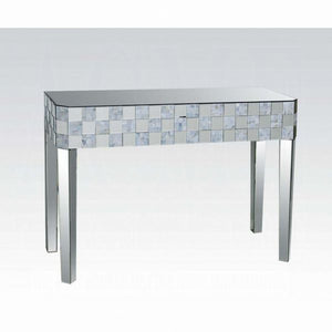 "46"" Nasa Console Table Mirrored"