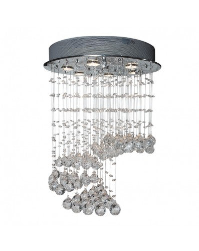 Waterfall Flush Lamp - Lighting - Crystal and Metal