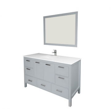 "Positano 60"" Gray Bathroom  Sink Vanity -Positano 60"""