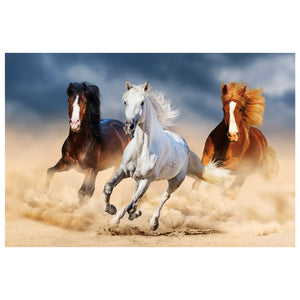 Tempered Glass Art - Horses on the Run Wall Art Decor
