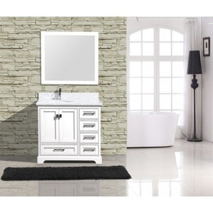 "Cambridge 36"" White Bathroom Sink Vanity -Cambridge 36"""