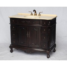 "Antique 42"" Espresso Bathroom Sink Vanity -1905ES-BE"