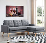 Tempered Glass Art - Wine And Cheese Wall Art Decor