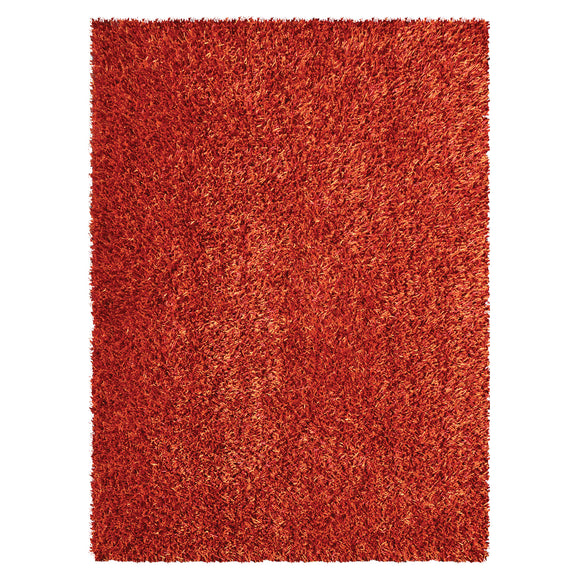 Modern Orange Shaggy Rug
