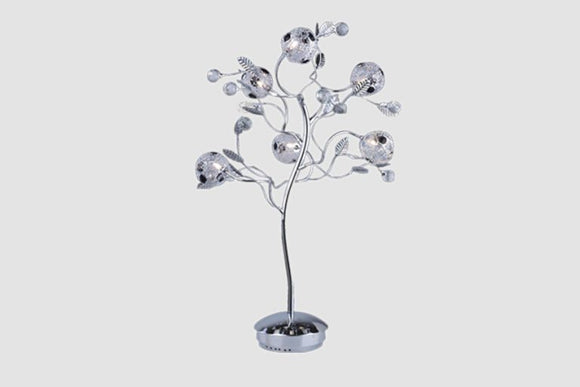 Flowers Table Lamp - Lighting - Metal and Glass 27 inch
