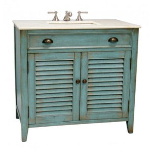 "Abbeville 36"" Blue Bathroom Sink Vanity -CF28884BU"