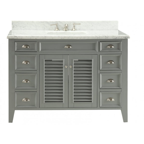 "Kalani 50"" Grey Bathroom Sink Vanity -3028-CK50"